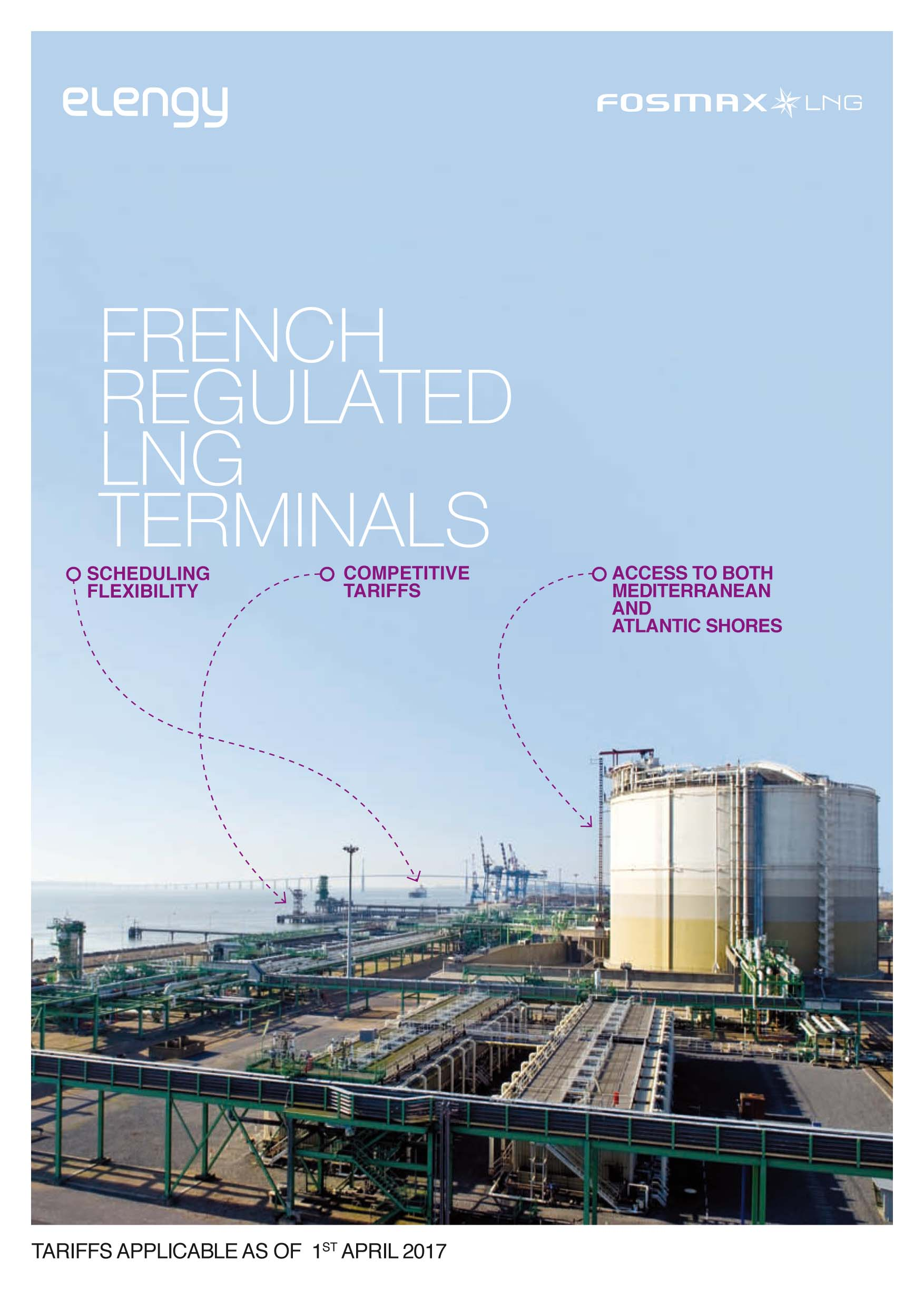 Fr regulated LNG terminals tariffs